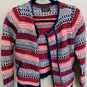 Elevenparis Mixed Color Wool Alpaca Blend Jacket